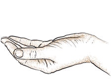 Hand supporting Royalty Free Stock Image