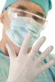 Hand of surgeon Royalty Free Stock Image