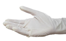 Hand with surgical  glove Stock Image