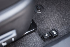 Hand switch of car fuel tank Stock Photo
