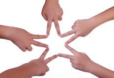 Hand symbol Stock Photo