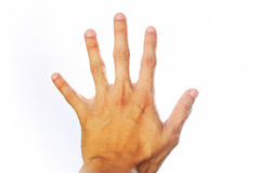 Hand symbol Stock Images