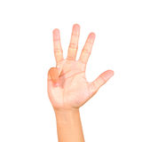 Hand symbol Royalty Free Stock Photos