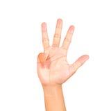 Hand symbol Royalty Free Stock Photos