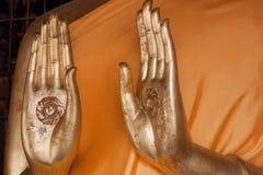 Hand with symbol Stock Photos