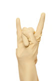 Hand symbol. Over a white background Stock Photos