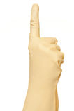 Hand symbol. Over a white background Royalty Free Stock Photography