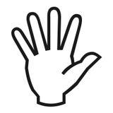 Hand symbol. Waving hand symbol on white background Royalty Free Stock Image