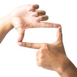 Hand symbol frame Royalty Free Stock Images