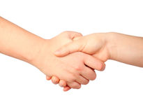 Hand symbol, handshake Royalty Free Stock Images