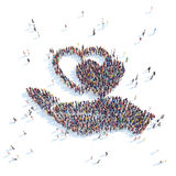 Hand symbol with hearts. Royalty Free Stock Image
