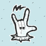 Hand Symbol Heavy Metal Royalty Free Stock Photo