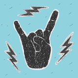 The Hand Symbol Heavy Metal Royalty Free Stock Images