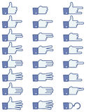 Hand Symbol Icon Set Stock Image