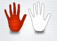 Hand Symbol Royalty Free Stock Photo