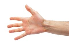 Hand symbol that means five Royalty Free Stock Photography