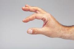 Hand symbol measuring Royalty Free Stock Image