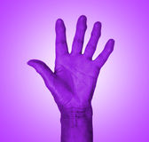 Hand symbol, saying five, saying hello or saying stop Stock Images