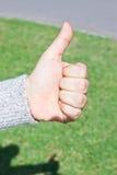 Hand symbol thumb up Royalty Free Stock Photos