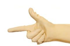 hand symbolet Fotografering för Bildbyråer