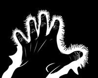 Hand symbolic pain Stock Photo