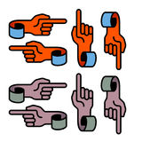 Hand symbols Royalty Free Stock Photography