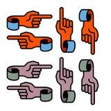 Hand symbols. Curled hand symbols on white Royalty Free Stock Photography