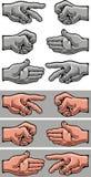 Hand symbols Stock Image