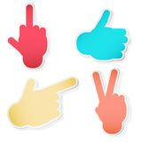 Hand Symbols. Vector illustration Royalty Free Stock Image