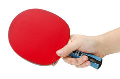 Hand and table tennis racket stock image