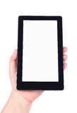 Hand and Tablet PC. Photos on white background Royalty Free Stock Images