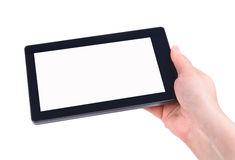 Hand and Tablet PC Stock Photo