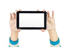 Hand Tablet PC Stock Photography