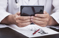 Hand with Tablet PC Royalty Free Stock Images
