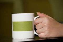 Hand take cup coffee Stock Images