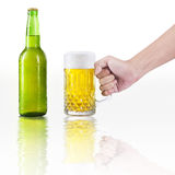 Hand take a glass of beer Stock Photo