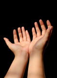Hand Talk Series Stock Images