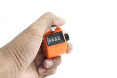 Hand tally counter Royalty Free Stock Photos