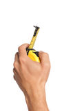 Hand with tape measure Royalty Free Stock Photography