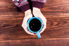 Hand with tea. Stock Photos