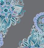 Hand tecknad blom- bakgrund Royaltyfria Bilder