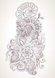 Hand tecknad blom- bakgrund Fotografering för Bildbyråer