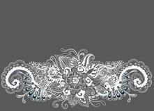 Hand tecknad blom- bakgrund Royaltyfri Fotografi