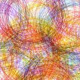 Hand tecknad färgrik bakgrund, abstrakt illustrat Arkivfoto