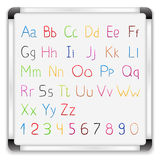 Hand tecknat alfabet Royaltyfri Fotografi