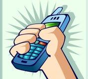 hand telefonen Arkivfoton