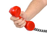 Hand and telephone Stock Photography
