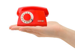 Hand with telephone Stock Image