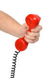 Hand and telephone Royalty Free Stock Photography
