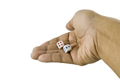 Hand Throw Dice Royalty Free Stock Photo